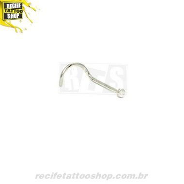 PIERCING NOSTRIL OURO BRANCO 18K