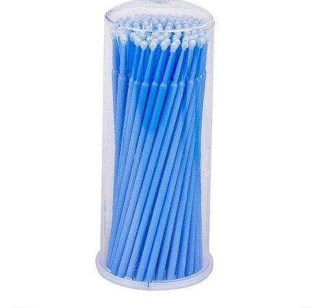 Aplicador Microbrush para Cílios Vermonth com 100 Azul.