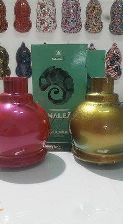 Tintas camaleão spray cor amarelo variação vermelho e verde  conteudo 300 ml