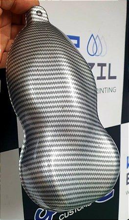 pelicula para water transfer printing modelo CARBONO PLATINIUM tamanho 1mts x 50 cmts de largura