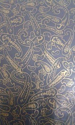 pelicula para water transfer printing modelo  arabesco indiano  dourado tamanho 1mts x 50cmts de largura