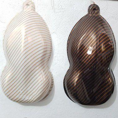 pelicula para water transfer printing modelo carbono dourado tamanho 1mts x 50 cmts de largura