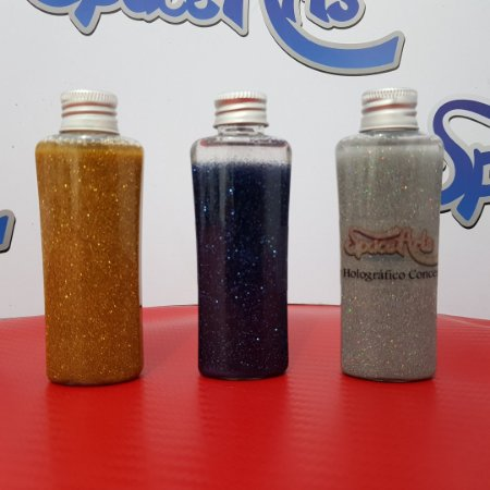 Z - Metal flake AZUL  conteudo 60 ml - rendimento de 1 lata de verniz de 900ml