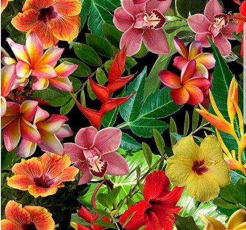 pelicula para water transfer printing modelo flores variadas medida de 1mts x 50 cmts de largura