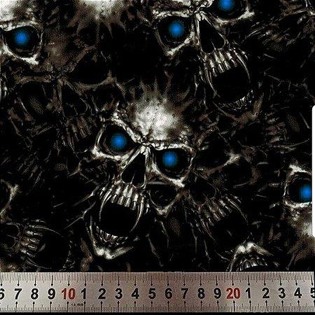 peliculas para pintura hidrografica modelo fantasma com olhos azuis - tamamho 1 mts comprimento x 0,50 cmts largura