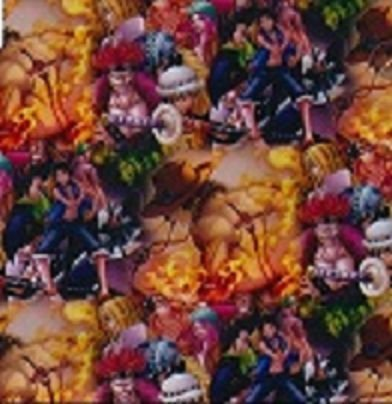 pelicula para pintura hidrografica modelo VAQUEIRO SELVAGEWM-  TAMANHO DE 1 MTS COMP X 50 CMTS LARGURA