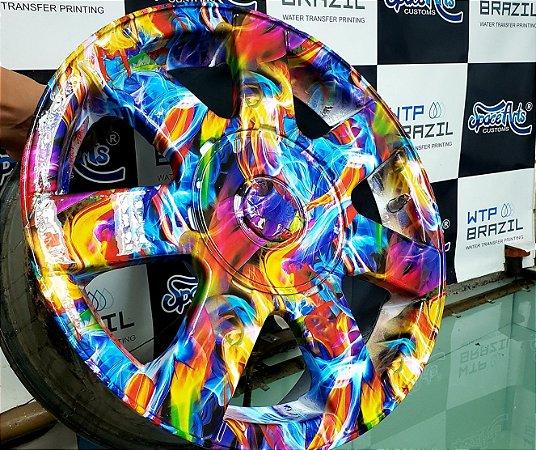 pelicula para pintura hidrografica modelo artes coloridas tamanho 1 mts de comp x 50 cmts largura