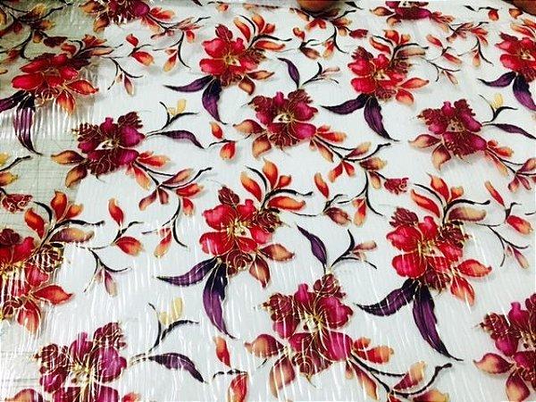Película para Water Transfer Printing modelo Floral rosas e vermelho  tamanho - 1mts x 0,50 cmts comprimento