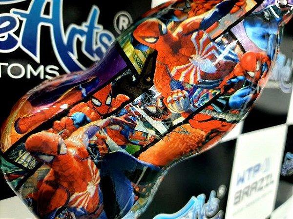 - pelicula para pintura hidrografica modelo MARVEL HOMEM ARANHA  - tamanho 1 mts comprimento x 0,50 cmts de largura