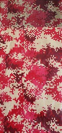 pelicula para pintura hidrografica modelo camuflado red type tamanho 1 mts de comp x 50 cmts largura