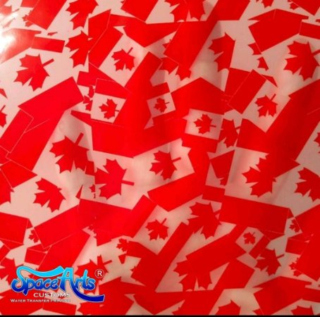 pelicula para pintura hidrografica modelo CANADA NOVA PEQUENA - tamanho 1 mts de comprimento x 0,50 cmts de largura
