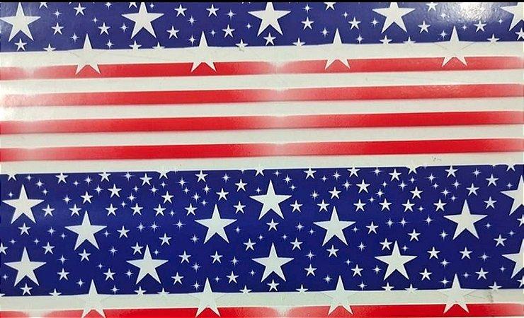 pelicula para pintura hidrografica modelo AMERICANA EM LINHAS - tamanho 1 mts de comprimento x 0,50 cmts de largura