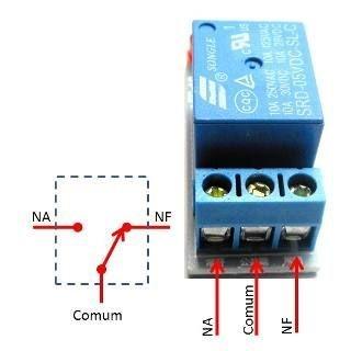 1 Canal Módulo de Relé 5V Baixo nível de Controle