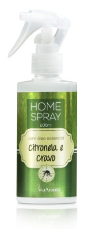 *Home Spray com Óleo Essêncial 200ml - Citronela e Cravo