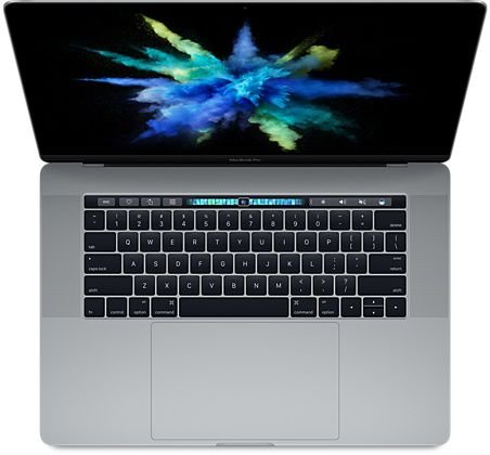 "MacBook Pro 15"" Space Gray Touch Bar/ID - i7 2.8Ghz / 16GB Ram / 256GB SSD - Modelo MPTR2LL (2017)"