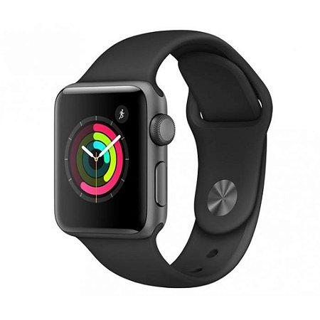 Apple Watch Series 2 38mm Caixa Preto Espacial de Alumínio com Pulseira Esportiva Preta
