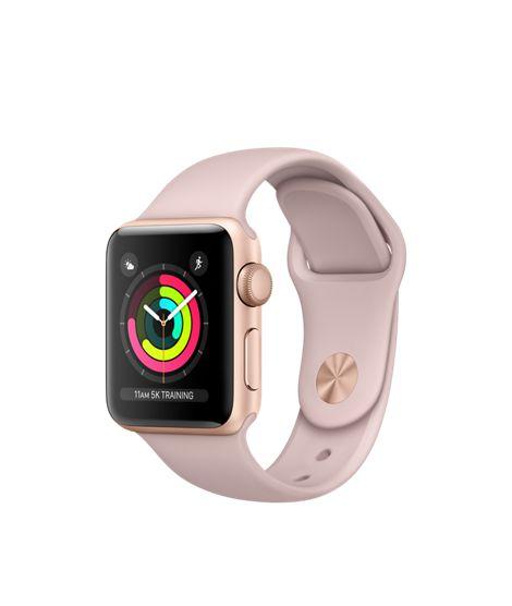 Apple Watch Series 3 38mm Caixa dourada e Pulseira Rosa
