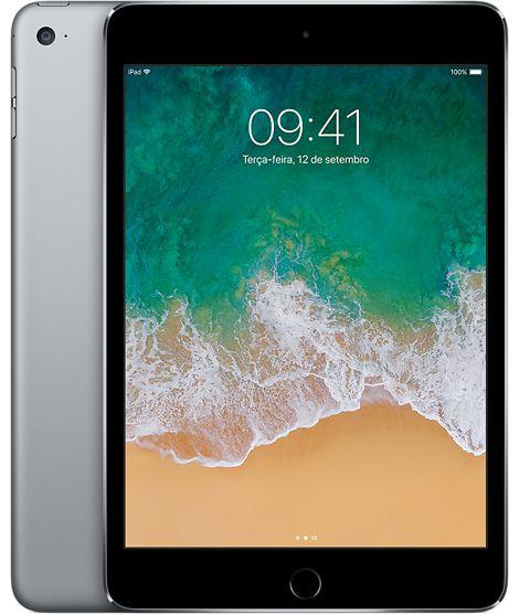 iPad Mini 4 Cinza Espacial 128GB Wi-Fi