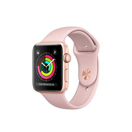 Apple Watch Series 3 42mm Caixa dourada e Pulseira Rosa