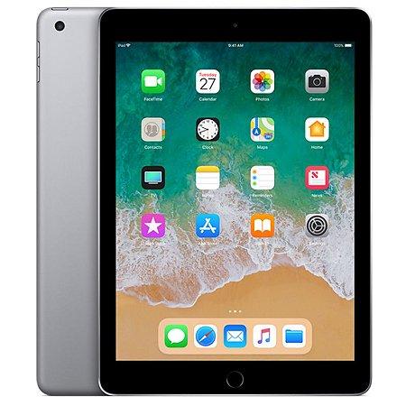 """iPad 6ª Geração 9.7"""" 128GB Cinza-espacial Wi-Fi + Cellular (compatível com Apple Pencil)"""