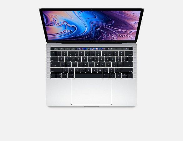 """MacBook Pro 13"""" Silver Touch Bar/ID - i5 2.3Ghz / 8GB Ram / 256GB SSD - Modelo MR9U2LL/A (2018)"""