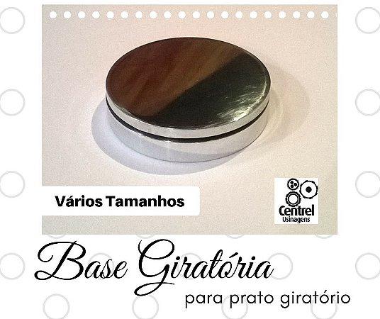 Base Giratória - Alumínio Brilhante