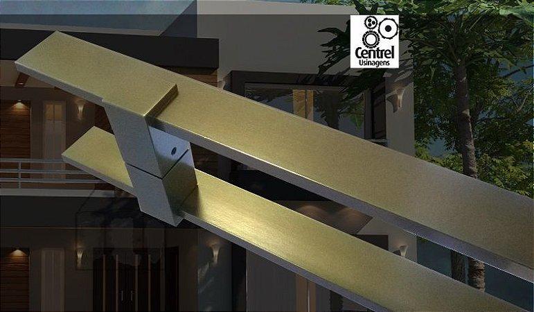 Puxador Porta 1,5m Gaia Bronze Claro 1002
