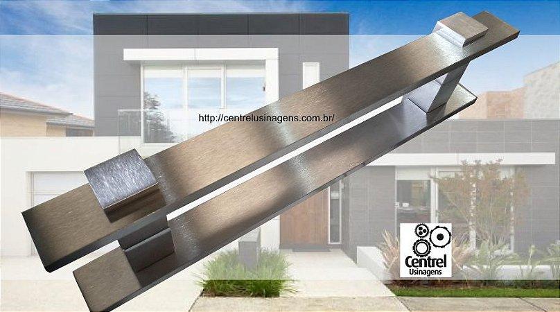 Puxador Porta 40cm Gaia Escovado