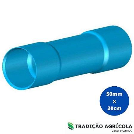 LUVA PVC SOLD. 50MM x 20CM PN80 - PTI
