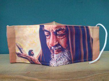 Máscara Personalizada São Pio a pronta entrega