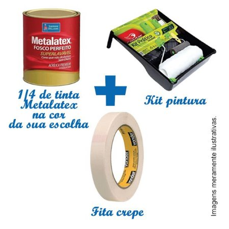 KIT PINTURA - PROMOÇÃO EXCLUSIVA PELO SITE