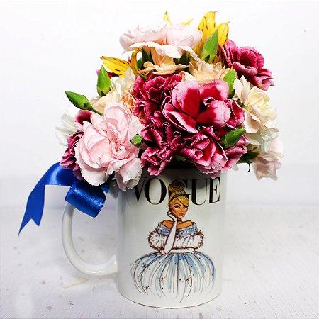 Caneca Floral