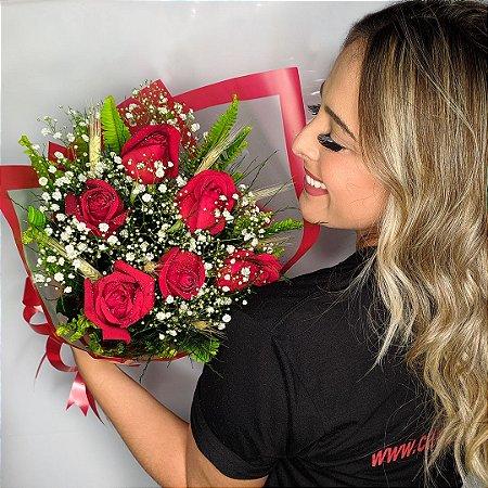 Buquê ⅟, dúzia de rosas