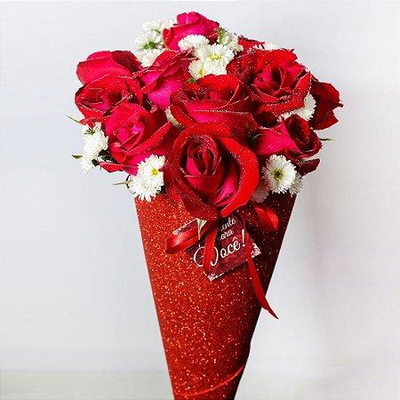 Buquê Shine de Rosas vermelho