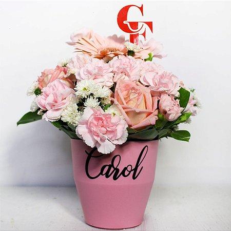 Arranjo Nomes especiais rosa