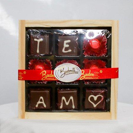 Placa de chocolate M
