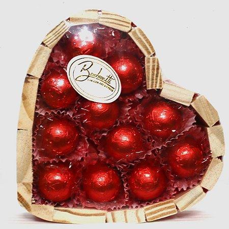 Coração de chocolate P