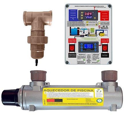 Aquecedor de Piscinas Hidrohot Ionizador 30m³ até 30.000Lts
