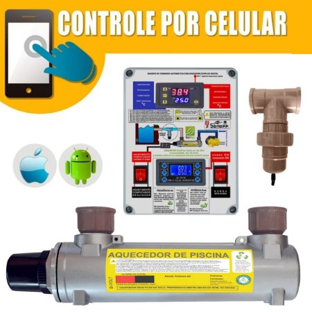 Aquecedor de Piscinas Hidrohot Wifi e Ionizador 20m³ até 20.000Lts