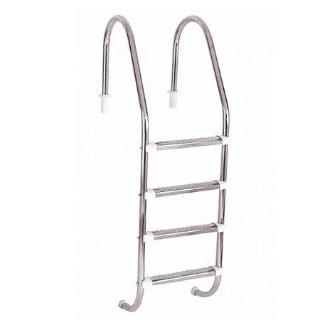 Escada Extended Libra Inox 4 degraus Inox Ponteira ABS