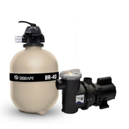 Conjunto Filtrante Sibrape BR 40 até 44,8 m³  +  BOMBA SIBRAPE BPF HE 1/2CV 50/60 HZ 110/127