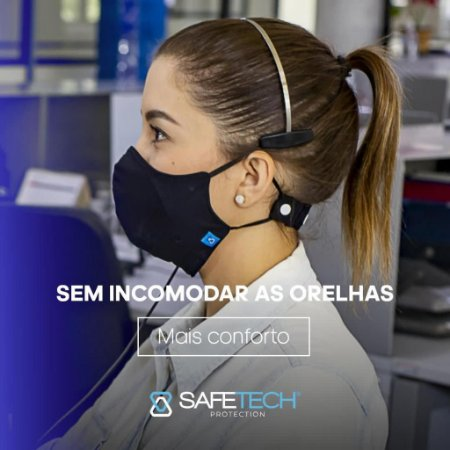 Máscara Antiviral Bac-Virus Shield - Proteção Permanente