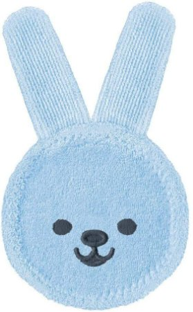 MAM Oral Care Rabbit - Luva de cuidado oral Azul
