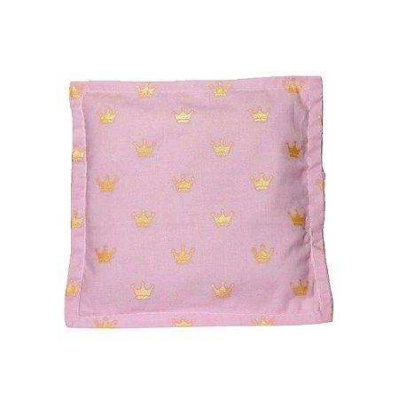 Bebê Sem Cólica Almofada Térmica de Sementes Coroa Rosa