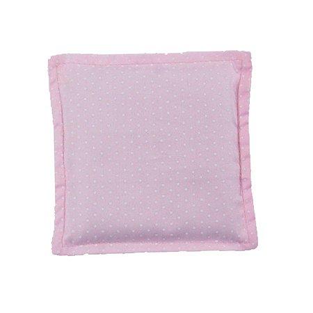 Bebê Sem Cólica Almofada Térmica de Sementes Poá Rosa
