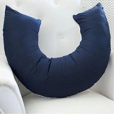 Laura Baby Almofada Amamentação Azul Marinho com Branco