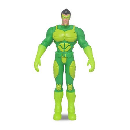 Boneco Articulado Grande Vigilante Verde C/ Máscara