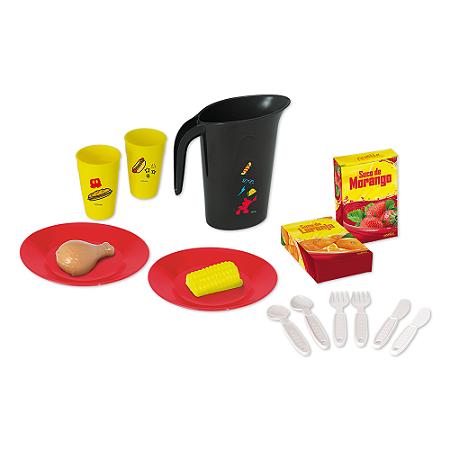Kit Cozinha Infantil c/ comidinhas Mickey Disney