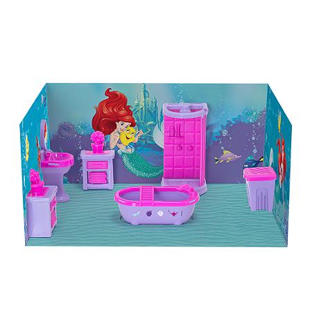 Casinha Boneca Mini Banheiro Princesas Disney