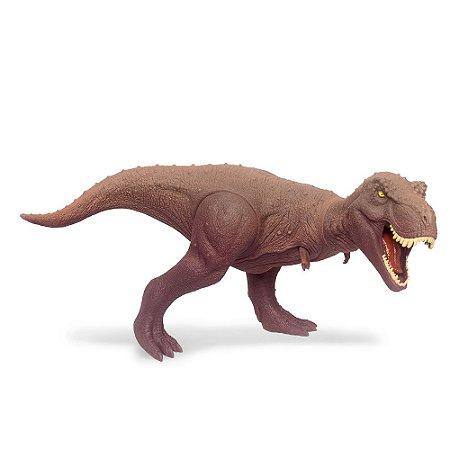 Dinossauro Tiranossauro Rex Jurassic Marrom